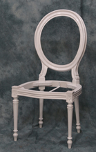 Carcasse blanche  Chaise Medaillon