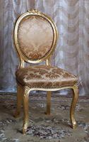 chaise medaillon or