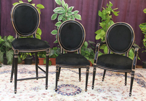 chaise medaillon noir tabouret bar