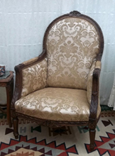 Fauteuil Bergere Medaillon style Louis XVI
