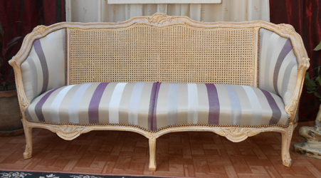 chaise medaillon cannees cannage style louis XVI