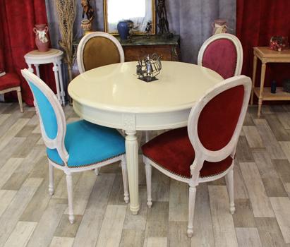Chaises Médaillon Meubles Style Nayar De Fabricant Xvi Les Louis 3q5AjL4R