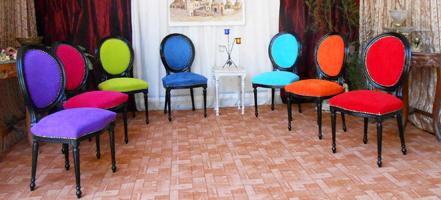Table Chaise Medaillon Couleur Style Louis XVI