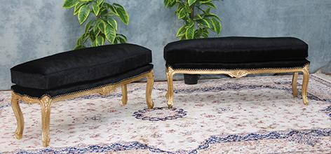 repose pieds et bancs de style louis xv et louis xvi. Black Bedroom Furniture Sets. Home Design Ideas