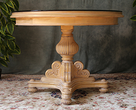 table baroque de style empire pied central