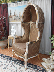 bergere carosse fauteuil dome style louis XV