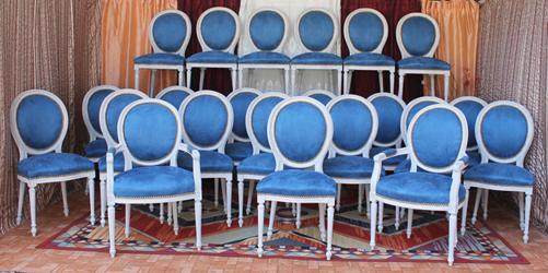 chaises m daillon sur mesure. Black Bedroom Furniture Sets. Home Design Ideas