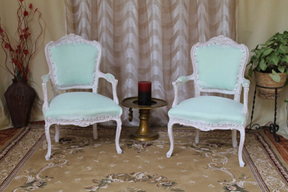 fauteuil baroque carcasse
