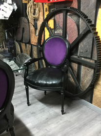 fauteuil industriel indus fabricant medaillon cuir