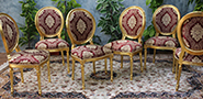 chaise medaillon baroque