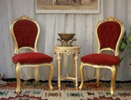 chaises cabriolet style louis XV