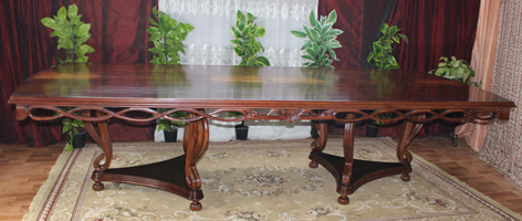 table reunion 4m de style empire baroque