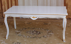 table style louis XVI  laque blanche